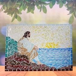 Mosaico Grande Jesus no mar