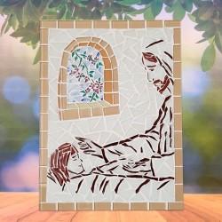 Mosaico Grande Jesus cuidando